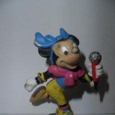 Figuras de Goma y PVC: MINNIE MOUSE , CANTANTE CON MICROFONO , BULLY ,DISNEY 1988. Lote 49330564