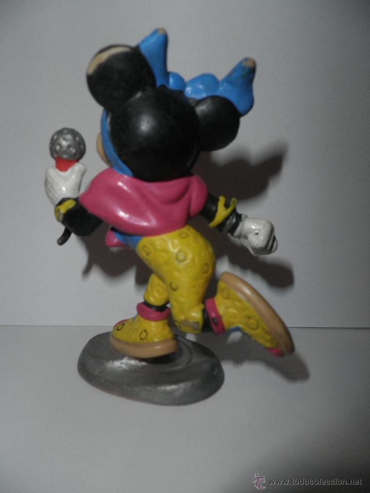 Figuras de Goma y PVC: MINNIE MOUSE , CANTANTE CON MICROFONO , BULLY ,DISNEY 1988 - Foto 2 - 49330564