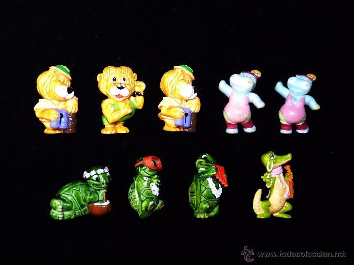 LOTE 9 FIGURAS KINDER FERRERO. ANIMALES. AÑOS 90 (Juguetes - Figuras de Gomas y Pvc - Kinder)