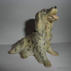 Figuras de Goma y PVC: PERRO DE GOMA DE COLECCION, SETTER INGLES., MARCA NEW HAY NOVELTY, AÑO 1990. Lote 49360713