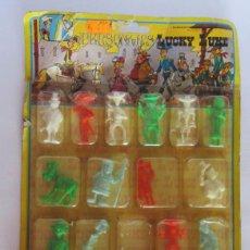 Figuras de Goma y PVC: FIGURA, FIGURAS, 20 PERSONAJES LUCKY LUKE, REF 38, NOVOLINEA, AÑO 1985, EN BLISTER. CC. Lote 49423124