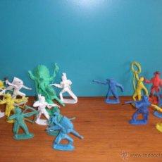 Figuras de Goma y PVC: LOTE FIGURAS VAQUEROS E INDIOS DE COMANSI, COMANSI INDIOS Y VAQUEROS. Lote 49424982