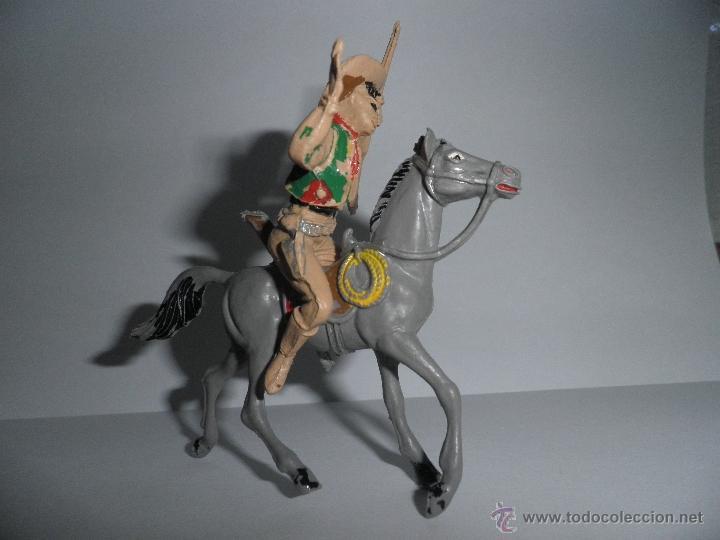 Figuras de Goma y PVC: ANTIGUO VAQUERO A CABALLO,HERIDO DE FLECHA, AÑOS 60, COMANSI. - Foto 2 - 49482277