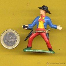Figuras de Goma y PVC: OESTE VAQUERO AÑOS 70 STARLUX FRANCIA. Lote 49498824
