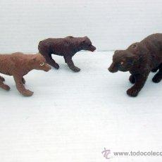 Figuras de Goma y PVC: 626 LOTE OSO OSA CON OSEZNOS ANIMALES ANIMAL SALVAJE PARDO JECSAN PECH ALFREEDOM SOTORRES REAMSA. Lote 49554373