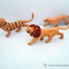 Figuras de Goma y PVC: 628 LOTE TIGRE LEON LEONA AFRICA KENYA SAFARI SELVA. Lote 49554499
