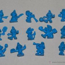 Figuras de Goma y PVC: (M) DUNKIN SERIE PITUFO - LOTE DE 14 FIGURAS DIFERENTES DE LOS PITUFOS, BUEN ESTADO. Lote 49562170
