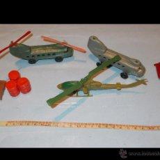 Figuras de Goma y PVC: LOTE DE 3 HELICOPTEROS PLÁSTICO IDEAL PARA SOLDADOS AIRFIX O MATCHBOX.KIOSKO.VER FOTOS.PTOY. Lote 49569599