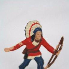 Figuras de Goma y PVC: FIGURA DE INDIO CON ARCO / ARQUERO - REAMSA, INDIOS Y VAQUEROS - AÑOS 50-60 - PLÁSTICO / PVC. Lote 49635184