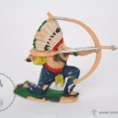 Figuras de Goma y PVC: FIGURA DE INDIO CON ARCO / ARQUERO - REAMSA, INDIOS Y VAQUEROS - AÑOS 50-60 - PLÁSTICO / PVC. Lote 49635201