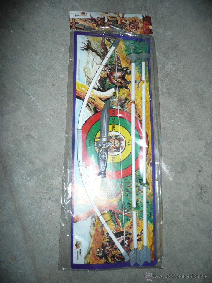 ARCO Y FLECHAS EN BLISTER AÑOS 70 (Juguetes - Figuras de Goma y Pvc - Pipero)