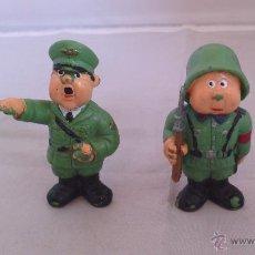 Figuras de Goma y PVC: LOTE DE 2 FIGURAS NAZIS HITLER Y SOLDADO ALEMAN ANTIGUA PVC RARISIMAS . Lote 49758146