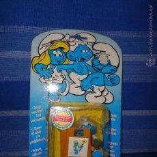 Figuras de Goma y PVC: PITUFO -ANTIGUO PITUFO FABRICADO POR IDEAL, EN SU BLISTER ORIGINAL 111-1. Lote 49761043