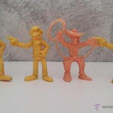 Figuras de Goma y PVC: FIGURAS GOMA PVC LUCKY LUKE HERMANOS DALTON. Lote 49771941