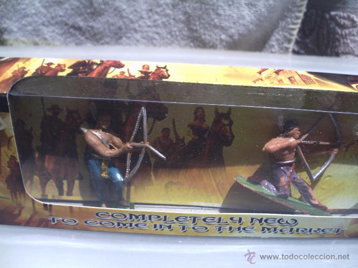 Figuras de Goma y PVC: indios de jecsan en caja - Foto 2 - 49850242