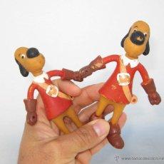 Figuras de Goma y PVC: LOTE 2 GRAN FIGURA GOMA ARTICULABLE VICMA AÑOS 80 DARTACAN Y LOS 3 MOSQUEPERROS. Lote 49897810