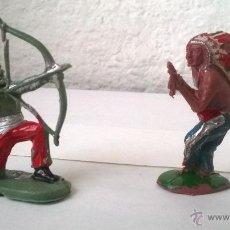 Figuras de Goma y PVC: DOS FIGURAS DE INDIOS (PECH Y PROBABLEMENTE REAMSA). Lote 50003620