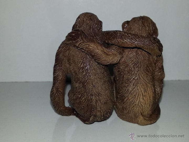 Figuras de Goma y PVC: PECH HERMANOS : FIGURAS PAREJA DE MONOS - CHIMPANCES AÑOS 50 GOMA BUEN ESTADO GENERAL - Foto 2 - 50037080