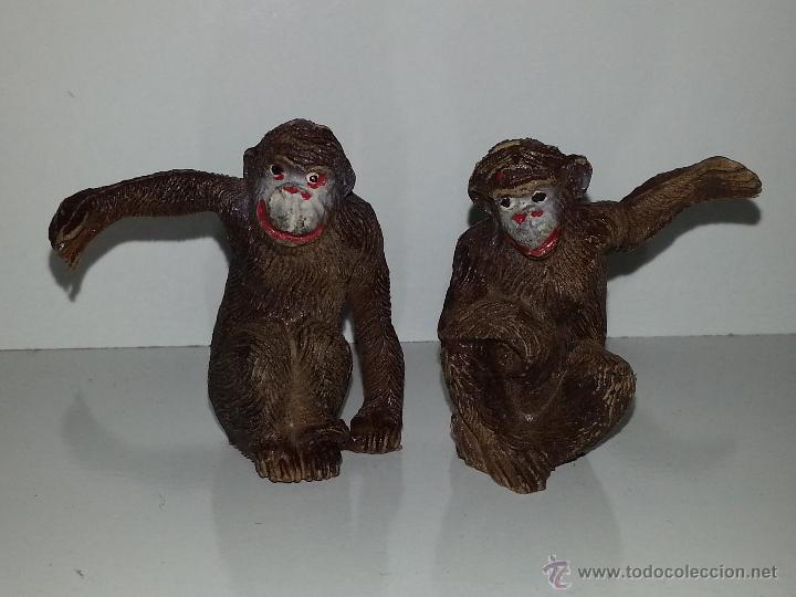 Figuras de Goma y PVC: PECH HERMANOS : FIGURAS PAREJA DE MONOS - CHIMPANCES AÑOS 50 GOMA BUEN ESTADO GENERAL - Foto 3 - 50037080
