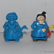 Figuras de Goma y PVC: (M) 2 FIGURAS SERIE LUCKY LUKE - MAMA DALTON , SCHLEICH, FIGURA PINTADA Y SIN PINTAR. Lote 50052173