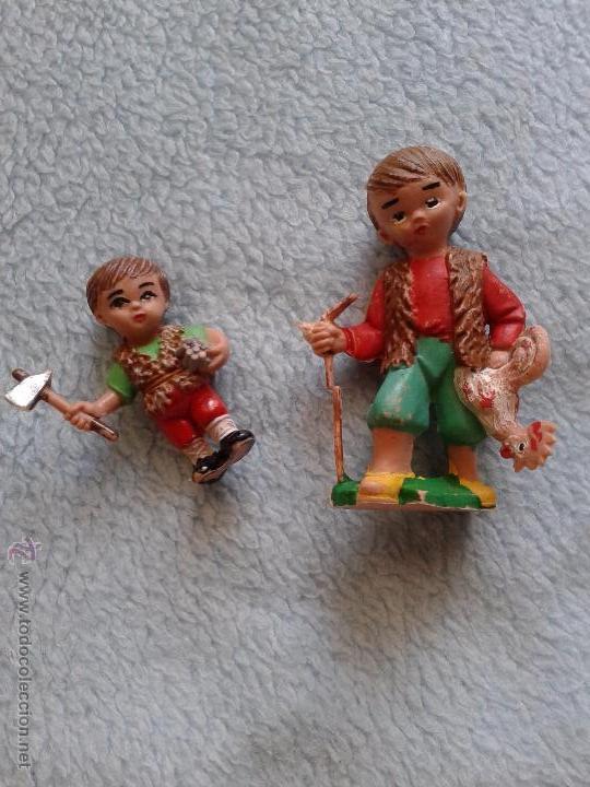 2 VINTAGE FIGURAS,,,, PLASTICO (Juguetes - Figuras de Goma y Pvc - Pech)