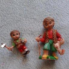 Figuras de Goma y PVC: 2 VINTAGE FIGURAS,,,, PLASTICO. Lote 50126449