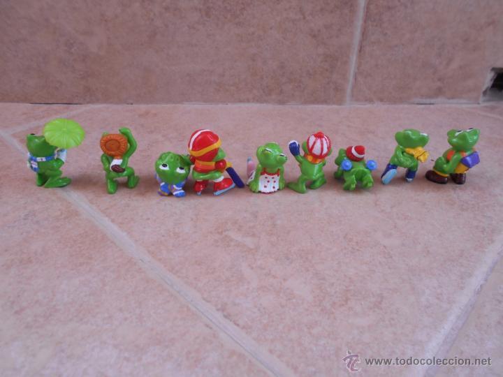 Figuras Kinder: Lote 9 figuras Ranas- Huevos Kinder años 90 - Foto 3 - 50416726