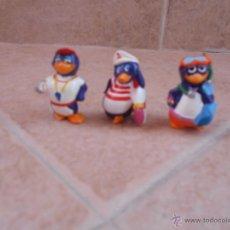Figuras Kinder: 3 KINDER SORPRESA 1993 PINGUINO PINGUINOS HUEVOS KINDER FERRERO. Lote 50448804