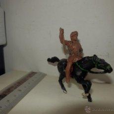 Figuras de Goma y PVC: SOLDADO MEDIEVAL Y CABALLO EN GOMA AÑOS 50. Lote 50492102