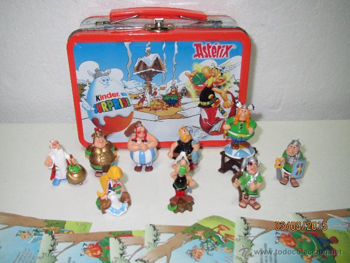 Figuras Kinder: Descatalogados Maletín de Chapa Litografiada, Folletos y Figuras ASTERIX Huevos KINDER - Año 2003 - Foto 2 - 50621452