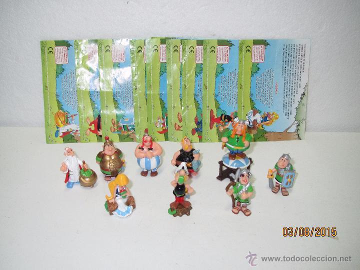 Figuras Kinder: Descatalogados Maletín de Chapa Litografiada, Folletos y Figuras ASTERIX Huevos KINDER - Año 2003 - Foto 3 - 50621452