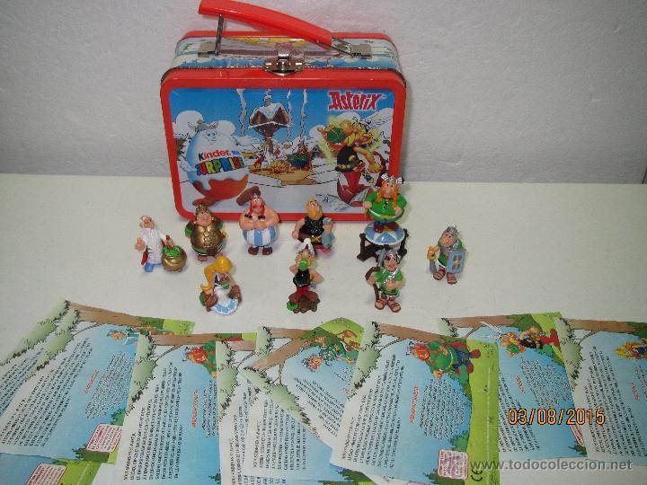 Figuras Kinder: Descatalogados Maletín de Chapa Litografiada, Folletos y Figuras ASTERIX Huevos KINDER - Año 2003 - Foto 5 - 50621452