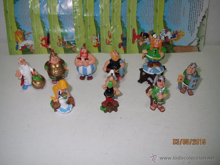 Figuras Kinder: Descatalogados Maletín de Chapa Litografiada, Folletos y Figuras ASTERIX Huevos KINDER - Año 2003 - Foto 6 - 50621452