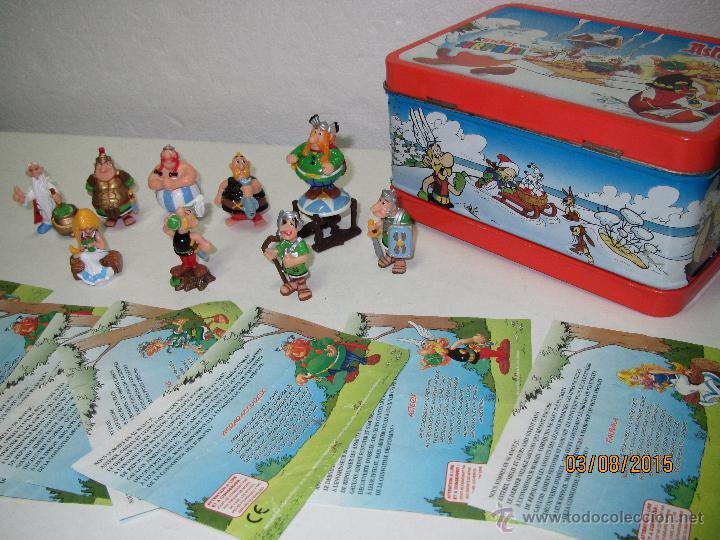 Figuras Kinder: Descatalogados Maletín de Chapa Litografiada, Folletos y Figuras ASTERIX Huevos KINDER - Año 2003 - Foto 7 - 50621452