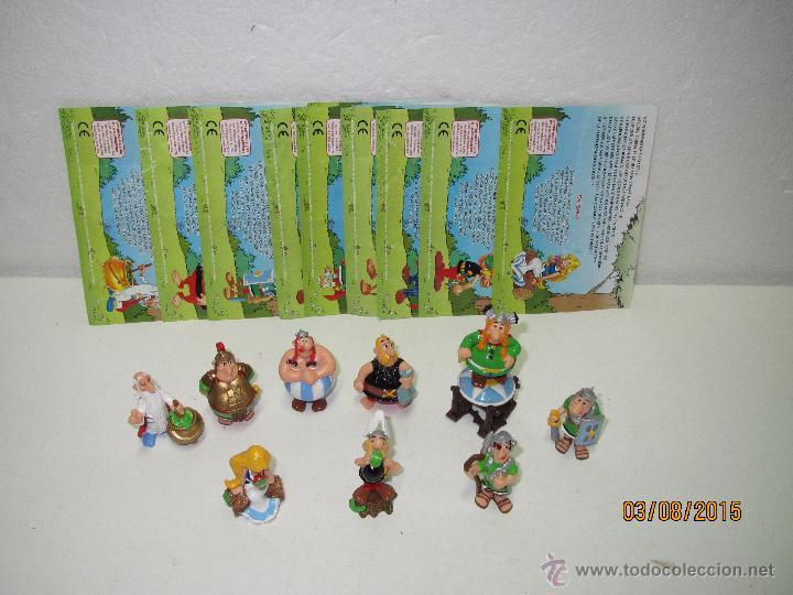 Figuras Kinder: Descatalogados Maletín de Chapa Litografiada, Folletos y Figuras ASTERIX Huevos KINDER - Año 2003 - Foto 8 - 50621452