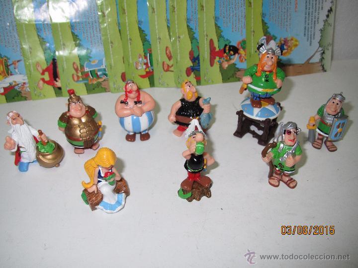 Figuras Kinder: Descatalogados Maletín de Chapa Litografiada, Folletos y Figuras ASTERIX Huevos KINDER - Año 2003 - Foto 9 - 50621452