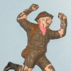 Figuras de Goma y PVC: SOLDADO GOMA BRITÁNICO INGLÉS SEGUNDA GUERRA MUNDIAL. Lote 50627821