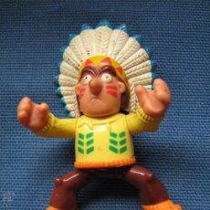 Figuras de Goma y PVC: FIGURA DE GOMA O PVC - JEFE INDIO ERASE UNA VEZ EL HOMBRE - 8 CM APRX. Lote 50635263