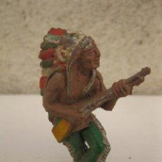 Figuras de Goma y PVC: ANTIGUO INDIO DE GOMA - JECSAN - AÑOS 50.. Lote 50687104