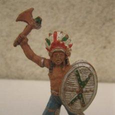 Figuras de Goma y PVC: ANTIGUO INDIO DE GOMA - JECSAN - AÑOS 50.. Lote 50687163