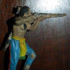 Figuras de Goma y PVC: FIGURA DE INDIO DE JECSAN, DE GOMA, EXCELENTE ESTADO. Lote 50744852