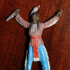 Figuras de Goma y PVC: FIGURA DE INDIO DE JECSAN, DE GOMA, EXCELENTE ESTADO. Lote 50744879