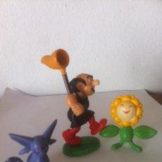 Figuras de Goma y PVC: FIGURA PVC COMIC GARGAMEL 1980 MADE PORTUGAL SCHLEICH Y OTRAS DOS FIGURAS.. Lote 50761514