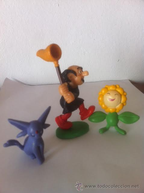 Figuras de Goma y PVC: Figura pvc comic GARGAMEL 1980 made Portugal Schleich y otras dos figuras. - Foto 3 - 50761514