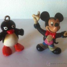 Figuras de Goma y PVC: FIFURAS PVC PINGU DE BULLY Y MICKEY MOUSE DISNEY . Lote 50762232