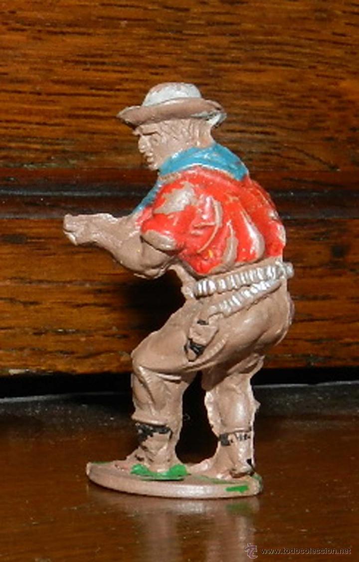 Figuras de Goma y PVC: VAQUERO EN GOMA DE PECH, TAL COMO SE VE EN LAS FOTOGRAFIAS PUESTAS, 4,5 CMS. - Foto 2 - 50883828