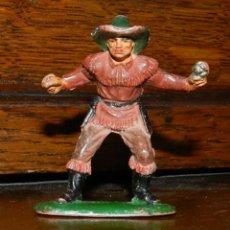 Figuras de Goma y PVC: VAQUERO PISTOLERO EN GOMA DE PECH, TAL COMO SE VE EN LAS FOTOGRAFIAS PUESTAS. Lote 50884011