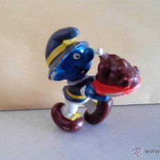 Figurines en Caoutchouc et PVC: PITUFO CON POLLO - PITUFO COCINERO - PEYO 1982. Lote 50943322