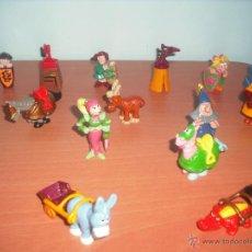 Figuras Kinder: SERIE CASTILLO DIVERTIDO - SALIAN EN HUEVOS KINDER - LOTE DE 14 FIGURAS O MUÑECOS. Lote 50950834