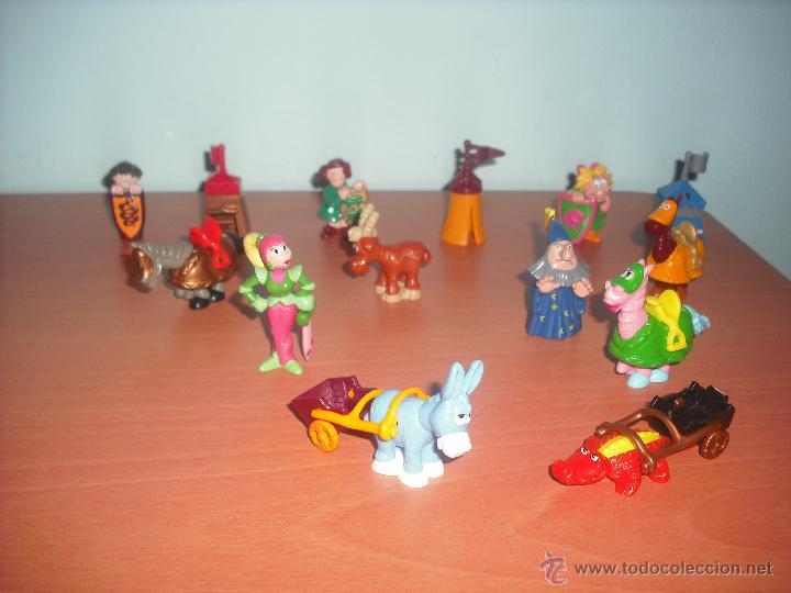 Figuras Kinder: SERIE CASTILLO DIVERTIDO - SALIAN EN HUEVOS KINDER - LOTE DE 14 FIGURAS O MUÑECOS - Foto 2 - 50950834